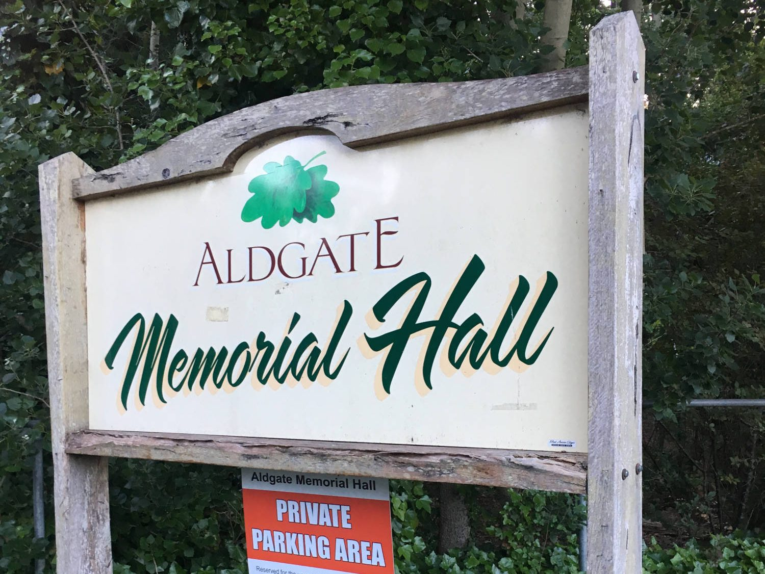 Aldgate Memorial Hall